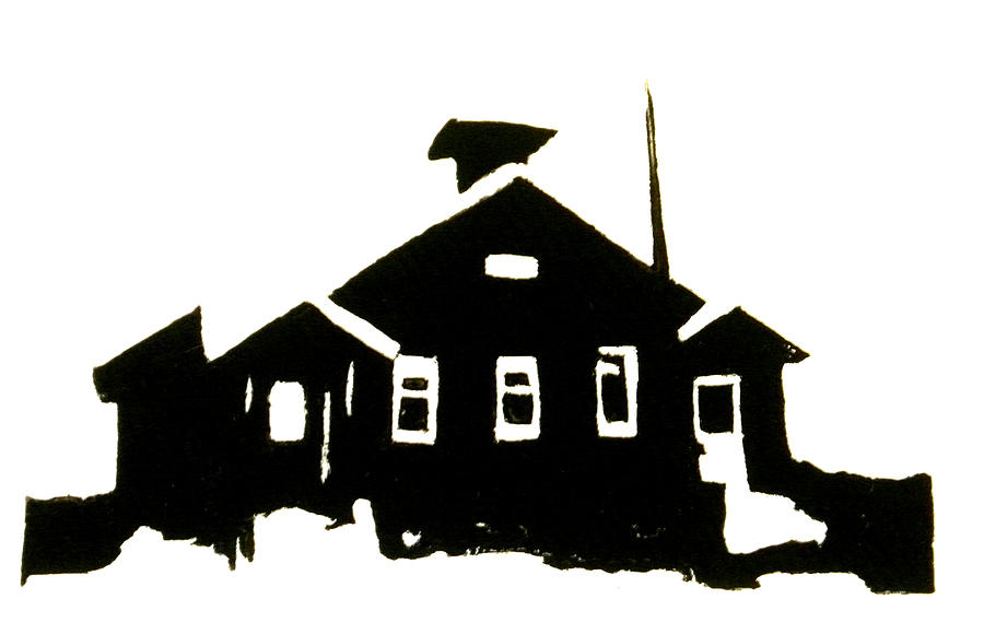 900x580 Schoolhouse Silhouette Painting By Chris Devries