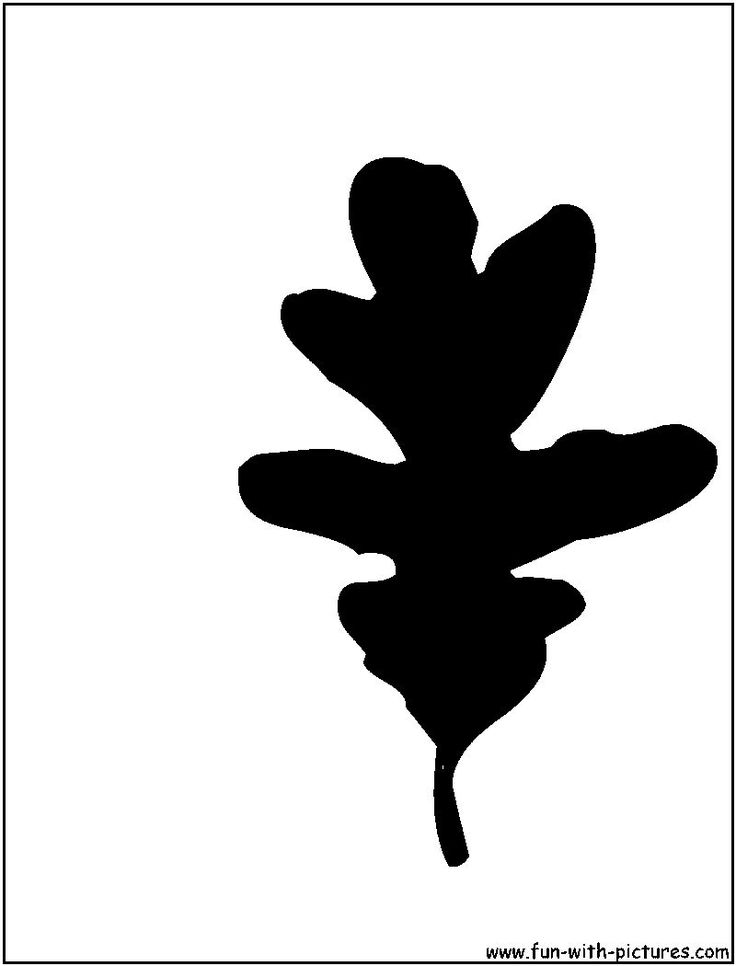 White Oak Leaf Silhouette