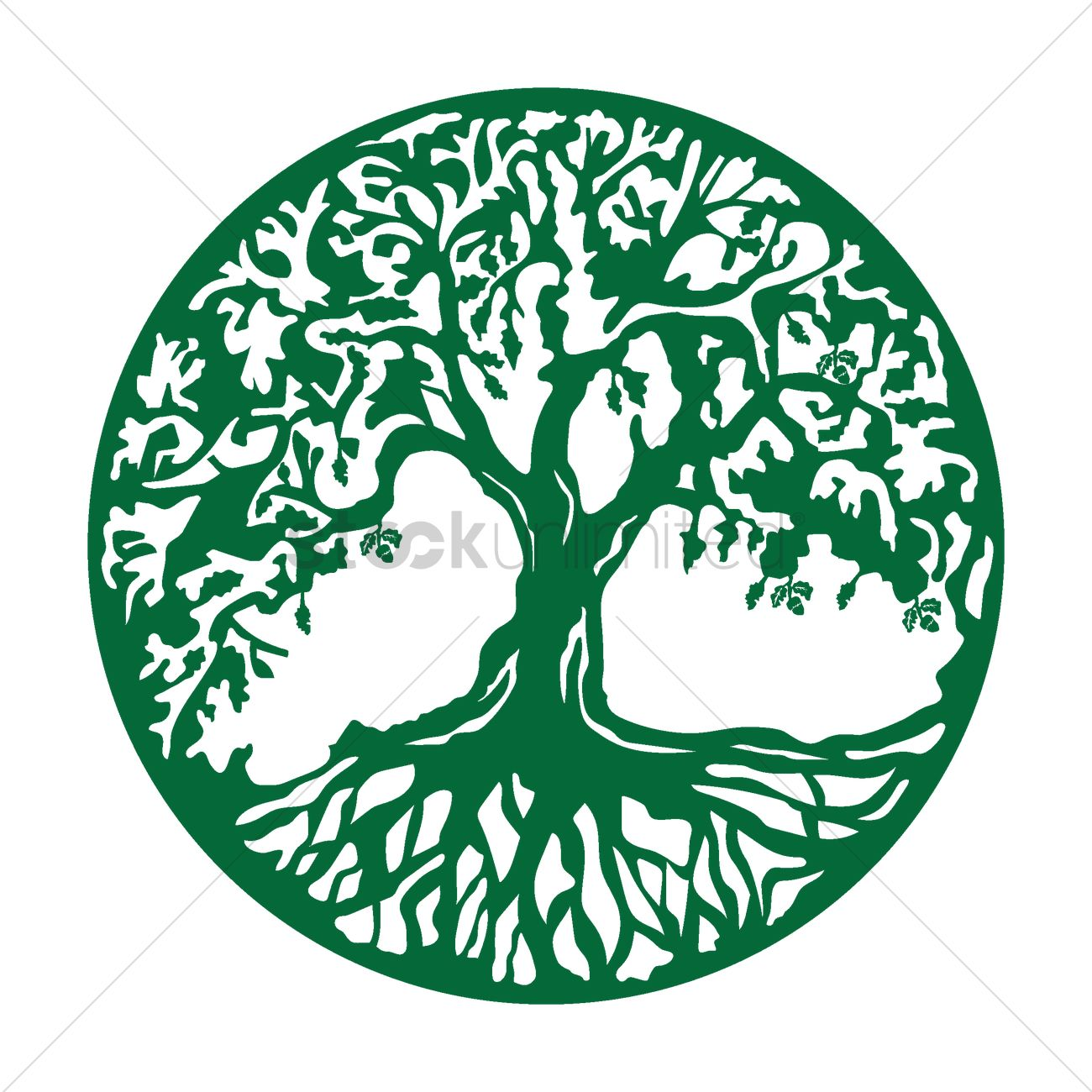 1300x1300 Oak Tree Icon Vector Image