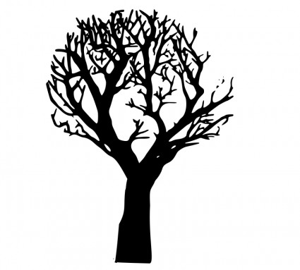 425x383 Oak Tree With Roots Clipart