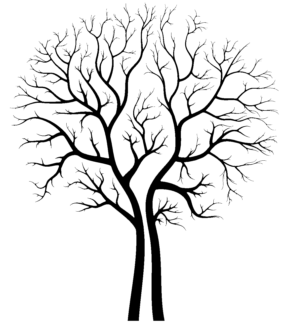 1143x1329 Oak Tree Silhouette Clipart
