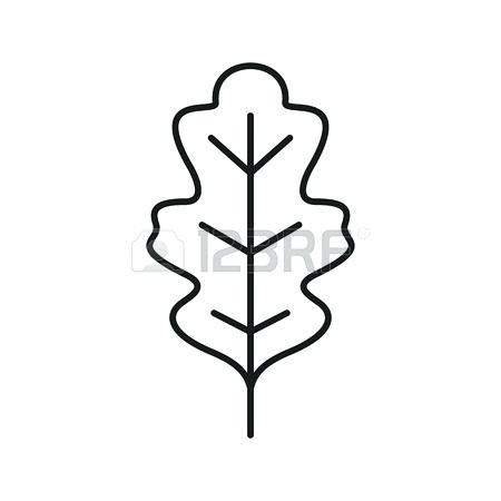 450x450 Photo Stock Vector Oak Leaf Flat Design Long Shadow Glyph Icon