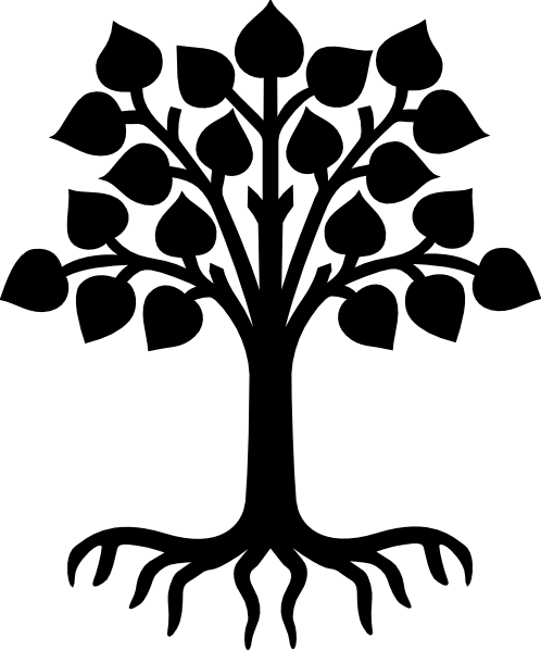 498x598 Stencil Designs Oak Tree With Roots