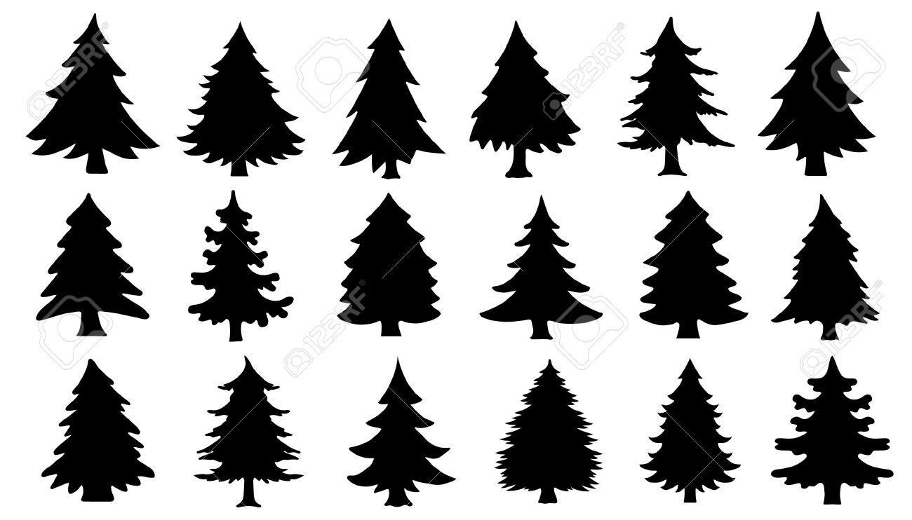 1300x742 Tree Silhouettes Silhouetten Tree Silhouette, Pine