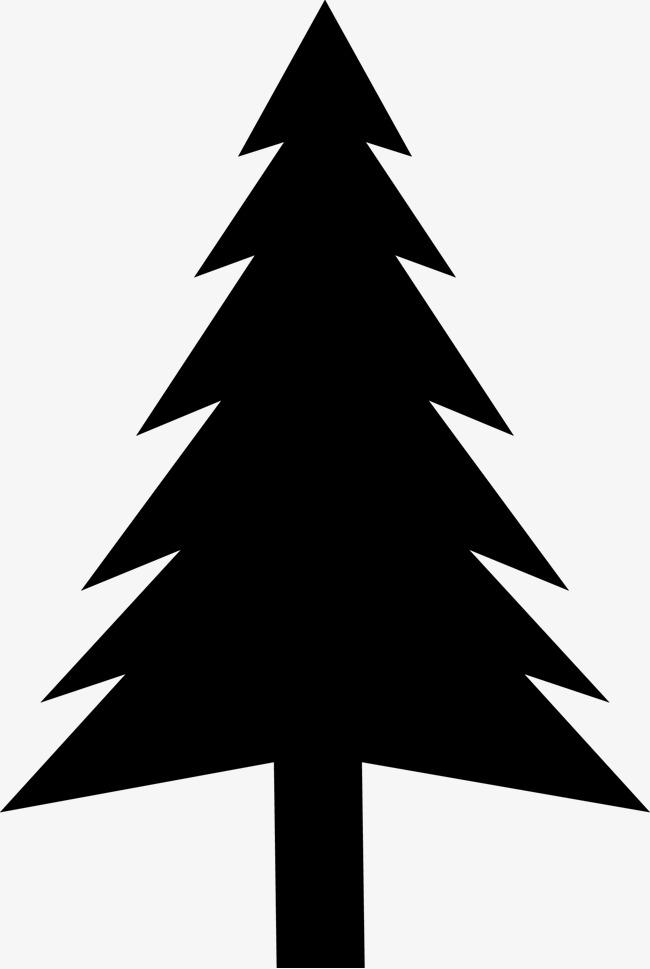 650x969 Cartoon Christmas Pine Silhouette, Christmas, Black, Hand Painted