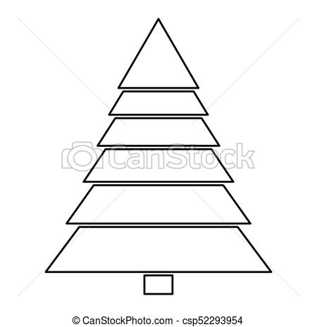 450x465 Christmas Tree Silhouette Isolated On White Background Clipart