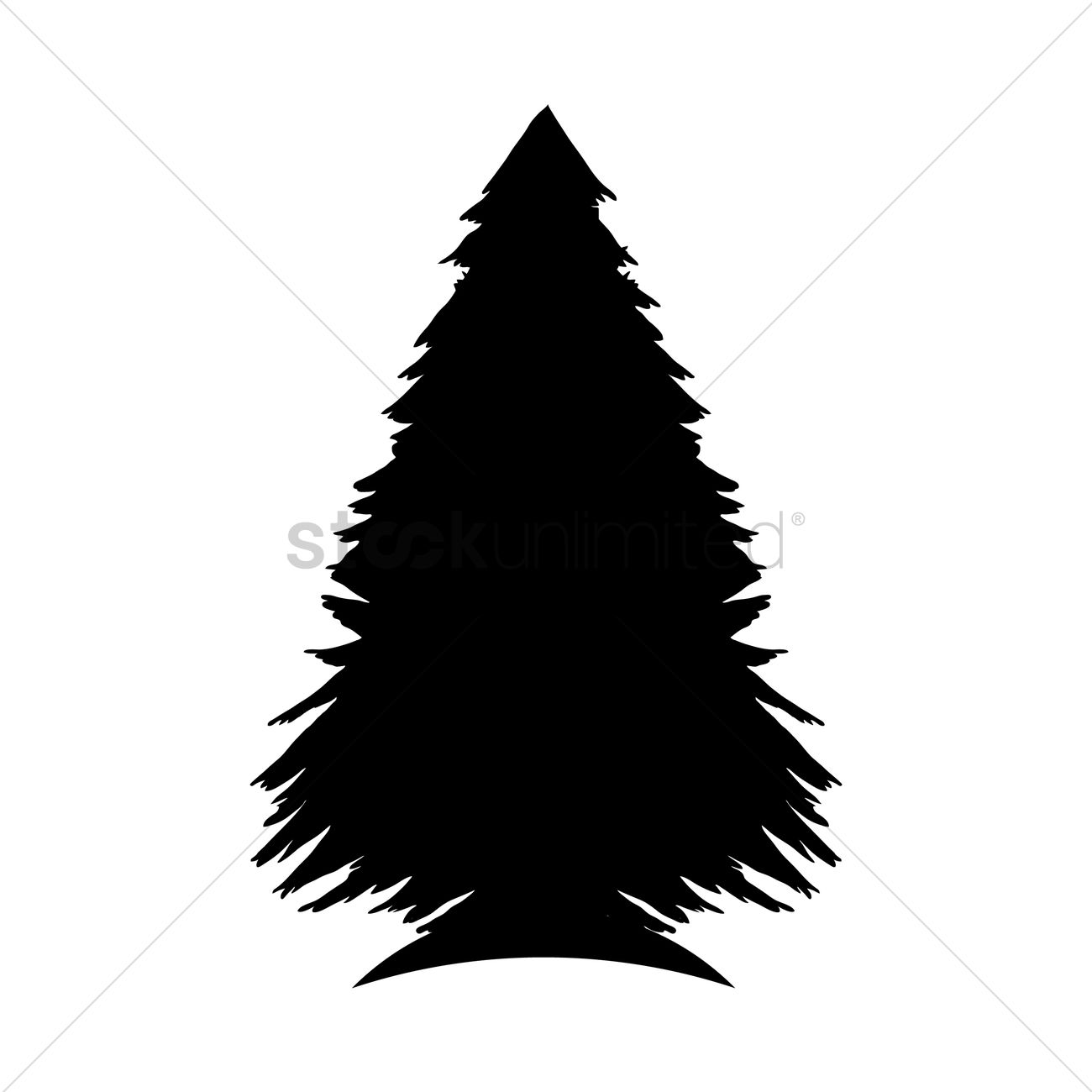 1300x1300 Pine Tree Silhouette Vector Image