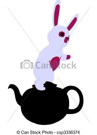 337x470 White Rabbit Silhouette Illustration. White Rabbit From Drawing