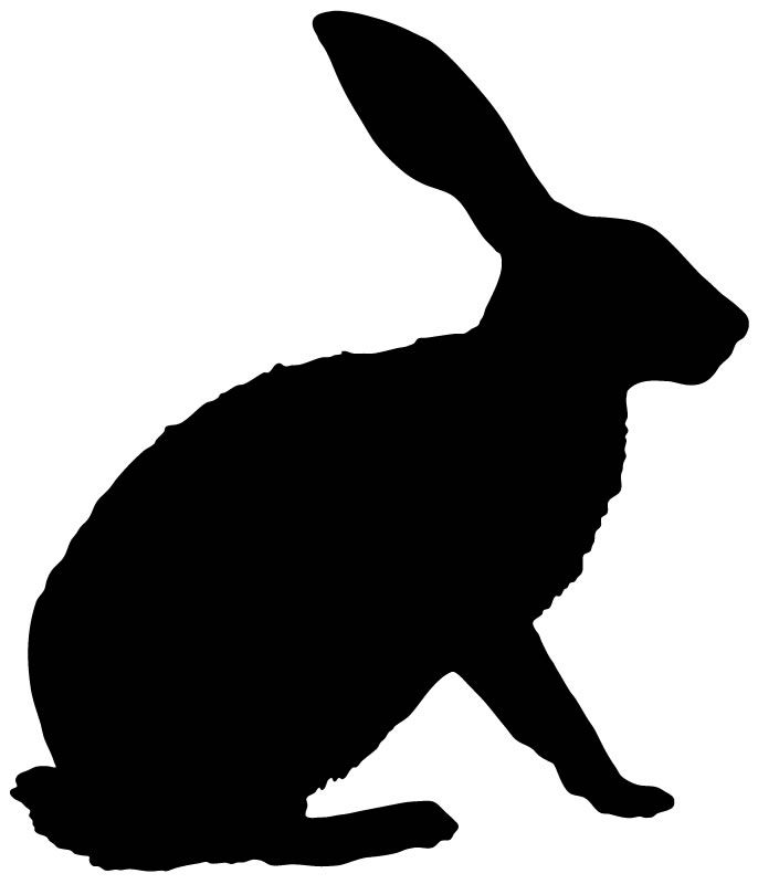 686x800 Rabbit Silhouette Christmas Rabbit, Silhouettes