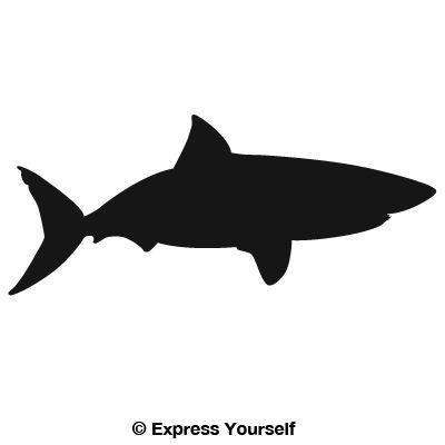 400x400 Great White Shark Decal