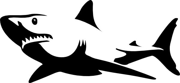 600x277 Pics For Gt Great White Shark Clipart Black And White Disneyland
