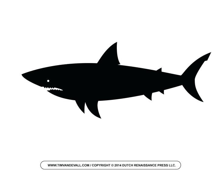 736x568 Free Cartoon Shark Shark Outline And Shark Silhouette Shark