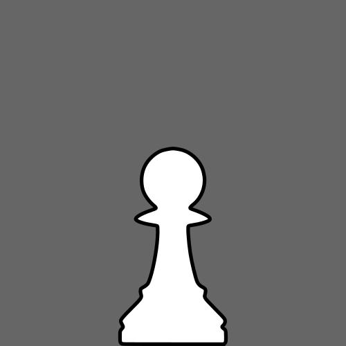 500x500 White Silhouette Chess Piece Remix Pawn Clipart