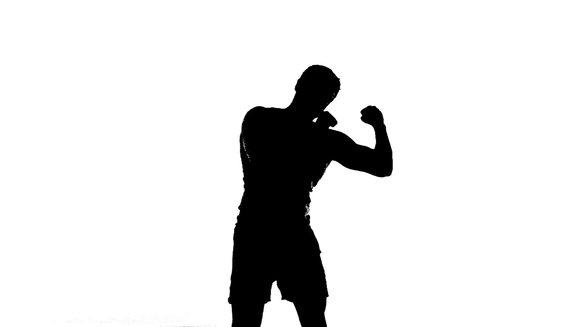 1920x1080 Boxer Boxing Silhouette Black And White Shadowboxing Throwing