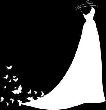 354x368 Girl Dress Silhouette Free Vector Download (8,388 Free Vector)