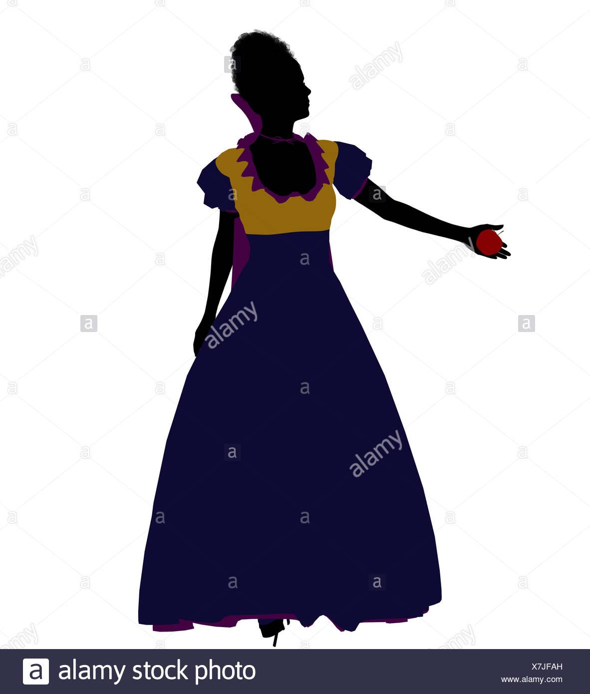 1182x1390 Snow White Silhouette Illustration Stock Photo 280075673