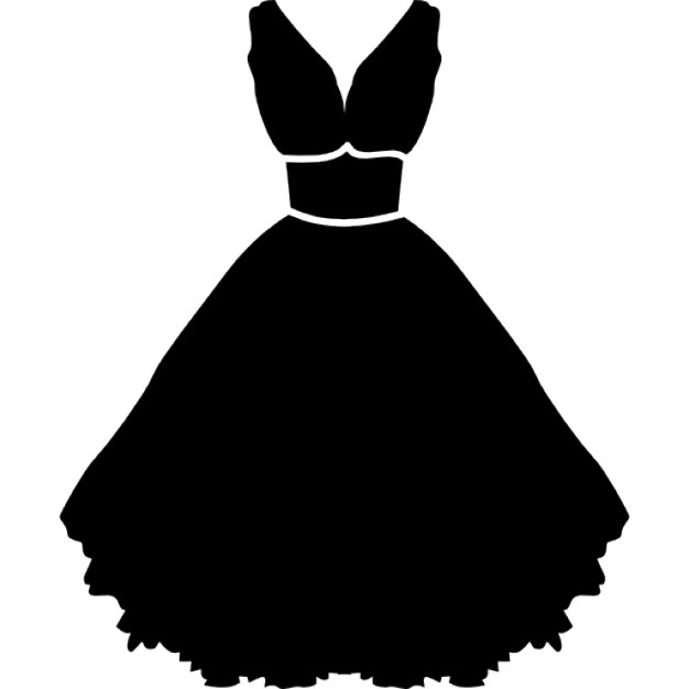 626x626 Stylish Strapless Dress With Belt And Petticoat Icons Free Download