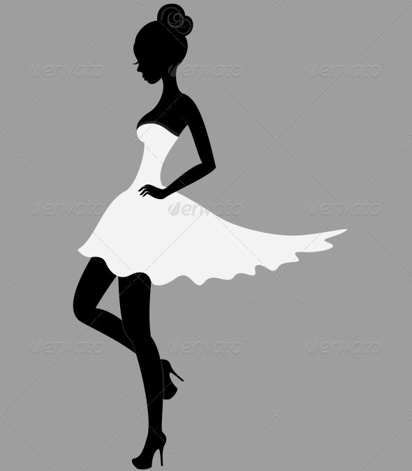 590x674 Beautiful Girl In White Dress Art Background And Silhouettes