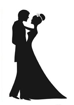 255x362 Wedding Dress Clipart Couple Silhouette