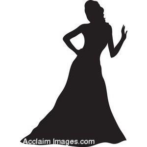 300x300 Silhouette Clipart Evening Dress