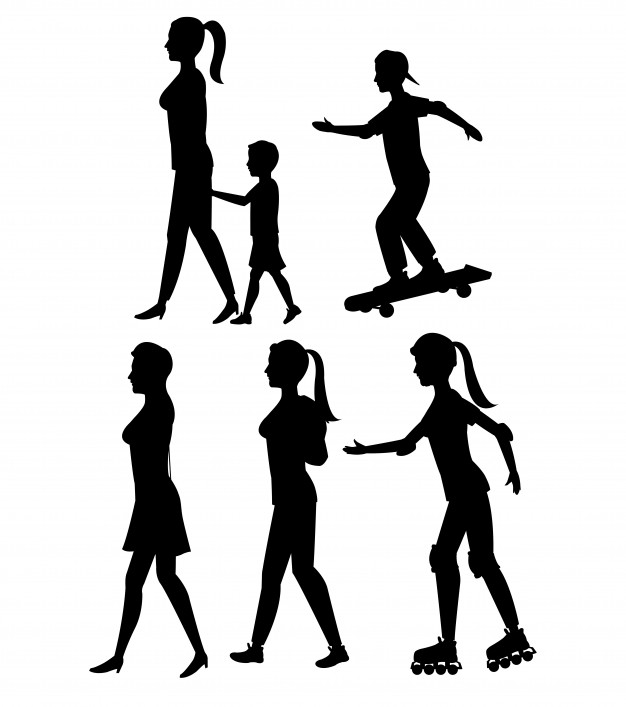626x707 Human Silhouette Standing Vectors, Photos And Psd Files Free
