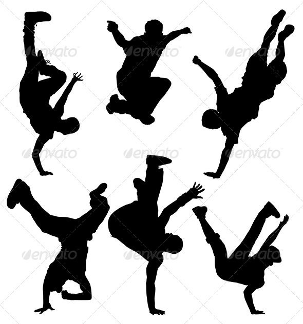 590x632 Break Dancers Silhouette Dancer Silhouette, Dancers And Silhouettes