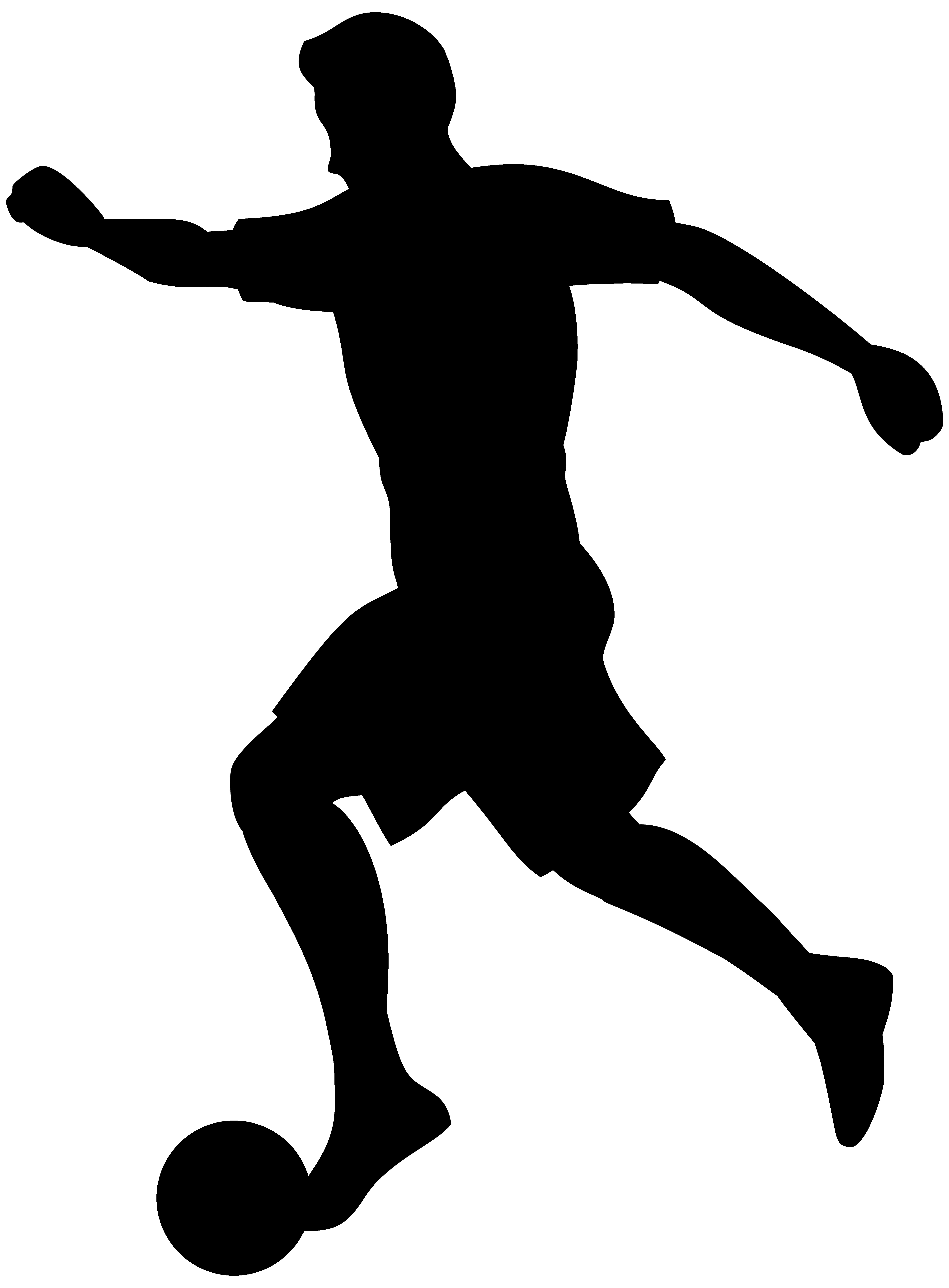 5896x8000 Footballer Silhouette Png Transparent Clip Art Image Gallery