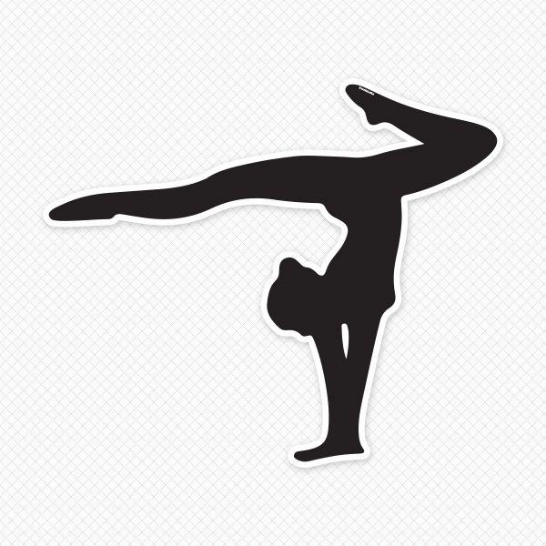 600x600 Png Gymnastics Black White Transparent Gymnastics Black