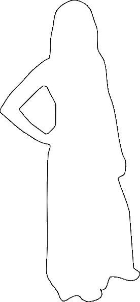 276x592 Silhouette Woman Outline Clip Art