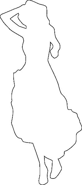 264x592 Clean White Silhouette Of A Woman Clip Art