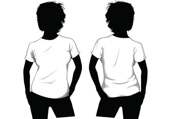 700x490 Girl T Shirt Template