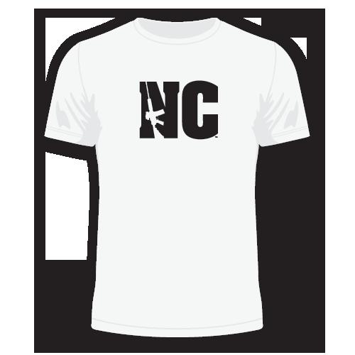 500x500 North Carolina Nc Ar 15 T Shirt Featuring Ar15 Rifle Silhouette