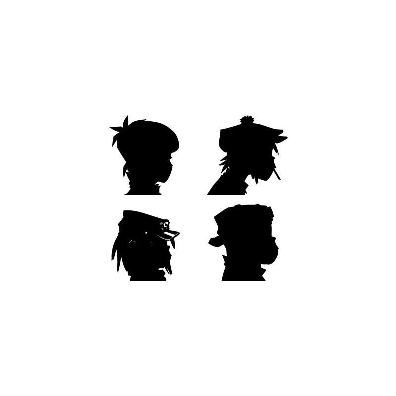 800x800 T Shirt Gorillaz Album Daemon Days White Silhouettes