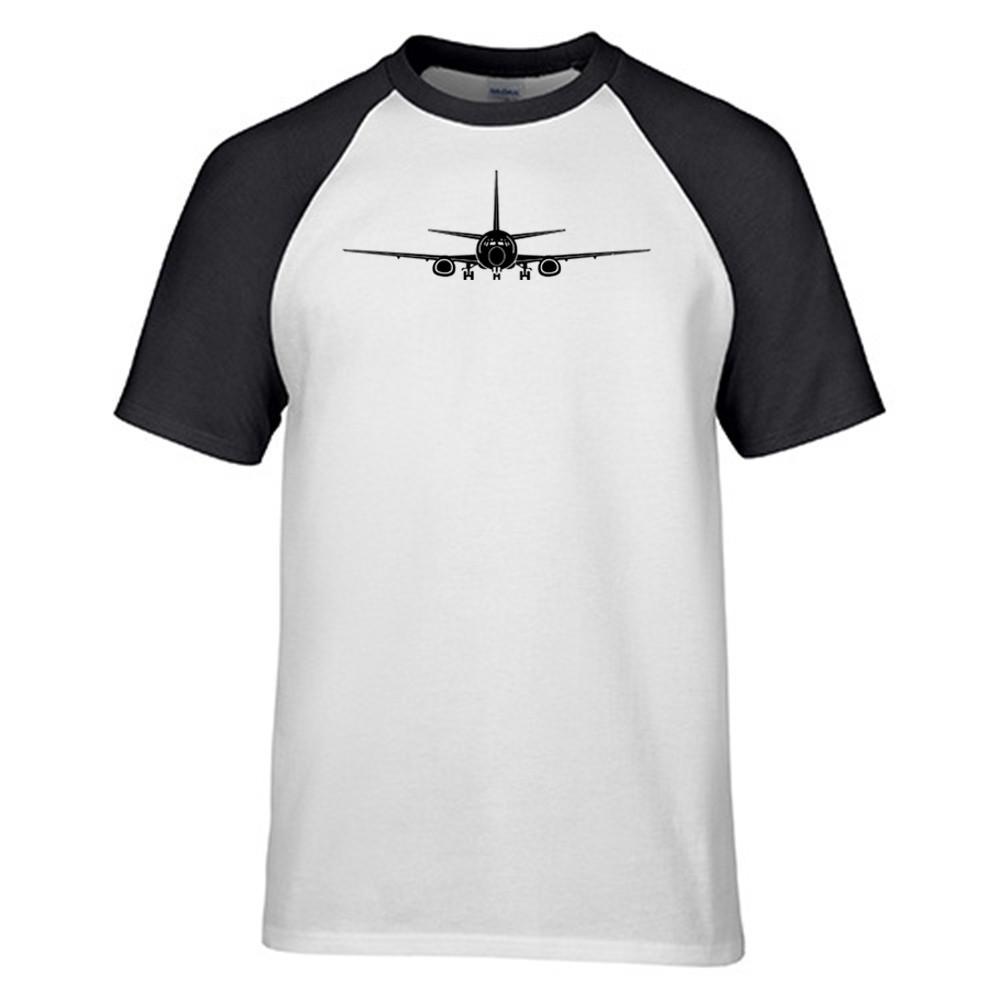 1000x1000 Boeing 737 Silhouette Printed Raglan Style T Shirts Pilot Eyes Store