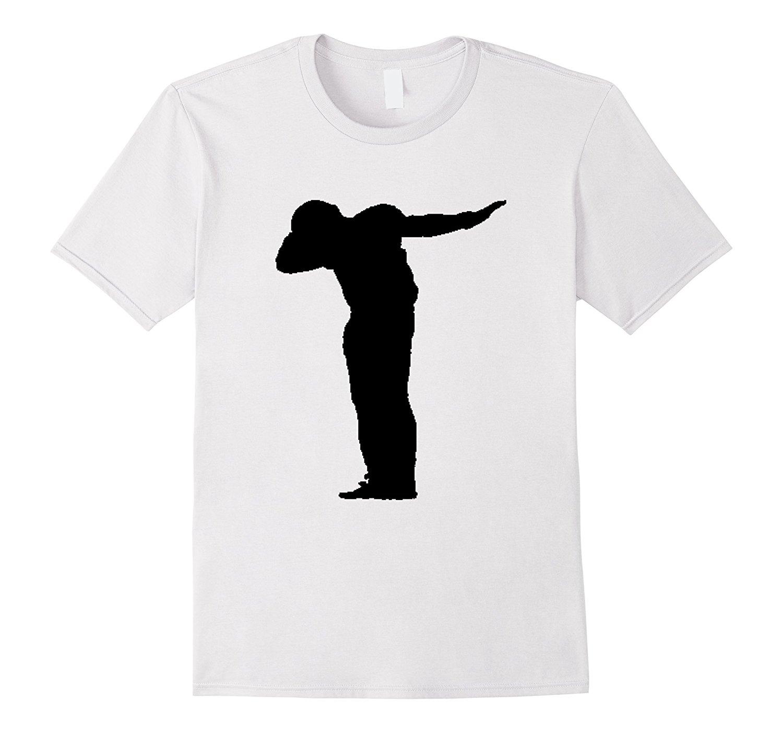 1500x1403 Dabbin Football Player Silhouette T Shirt Athlete Dabbing