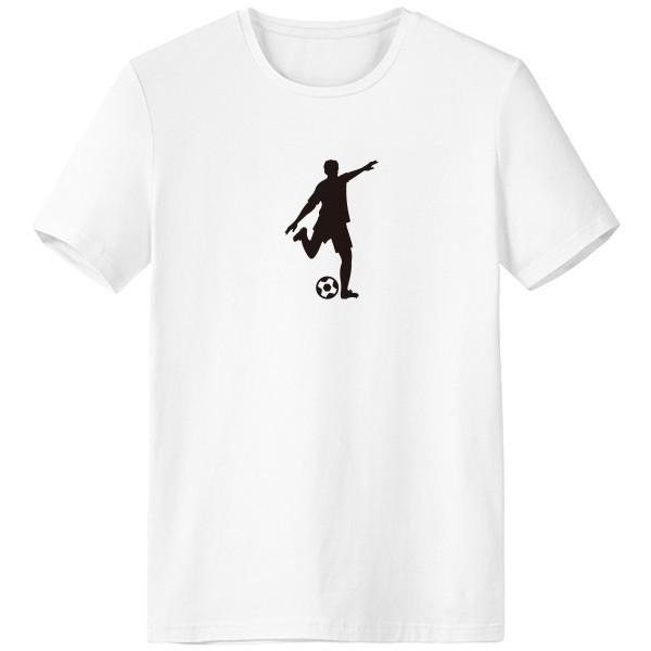 600x600 Football Soccer Silhouette Sports Crew Neck White T Shirt Spring