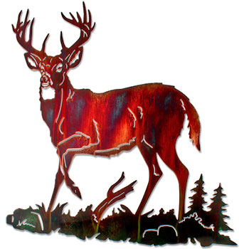 350x350 White Tailed Deer Clipart Metal