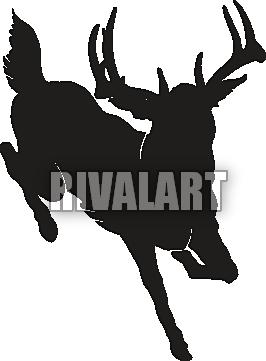 266x361 Whitetail Deer Buck Silhouette Clipart