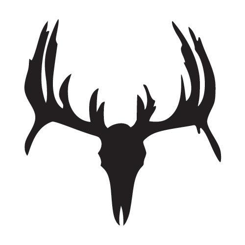 500x500 Whitetail Deer Skull Window Decal