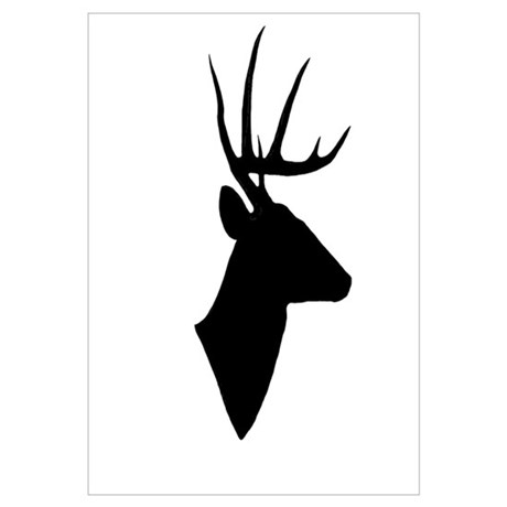 460x460 Deer Silhouette Canvas Art