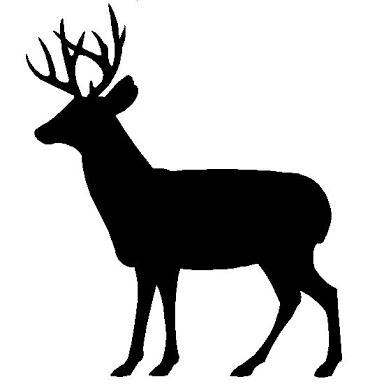384x384 Deer Silhouette Clip Art