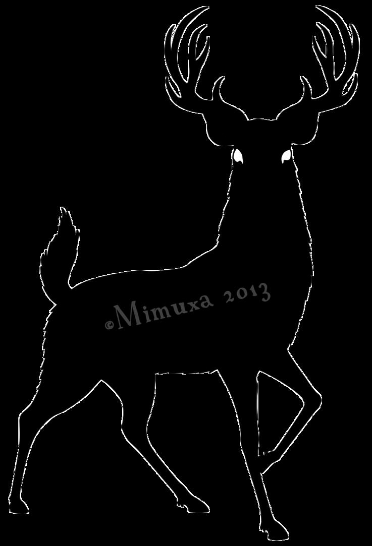 737x1083 Deer Silhouette By Mimuxa