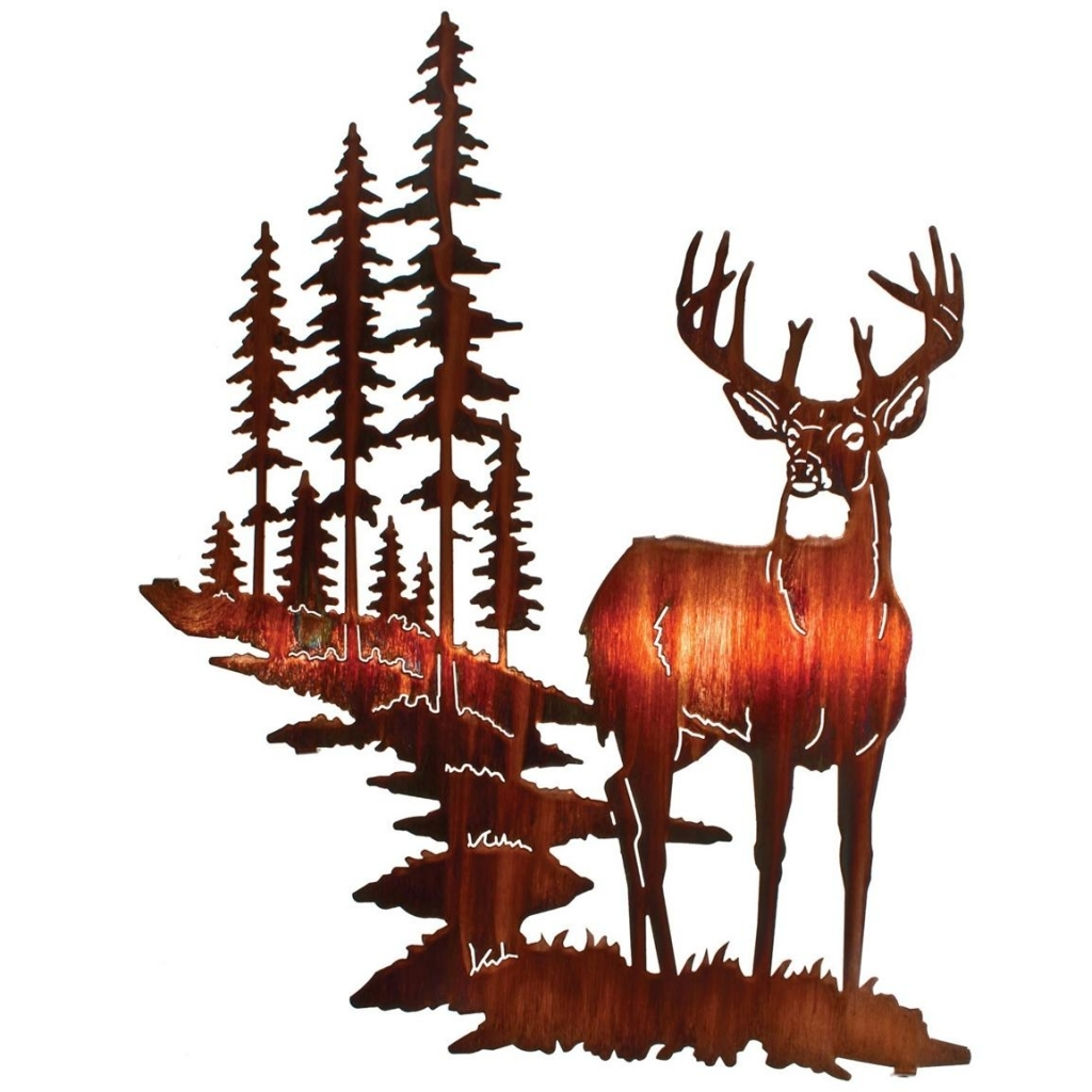 1024x1024 Lazart Whitetail Deer Wall Art Honey Pinion 207990 Wall Art