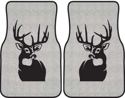 400x314 Perfect 10 Whitetail Deer Silhouette Car Mats