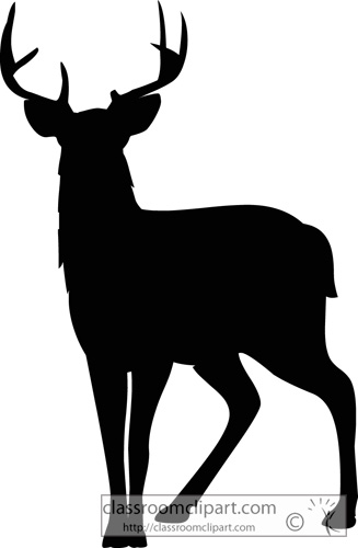 white tailed deer silhouette at getdrawings com free for personal rh getdrawings com  whitetail deer clip art
