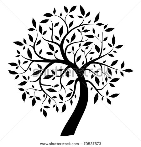 450x470 9 Black And White Tree Silhouette Vector Images