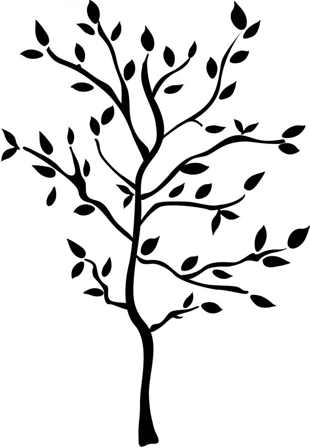 624x900 Silhouette Tree Silhouette Of Trees Clip Art Clipart