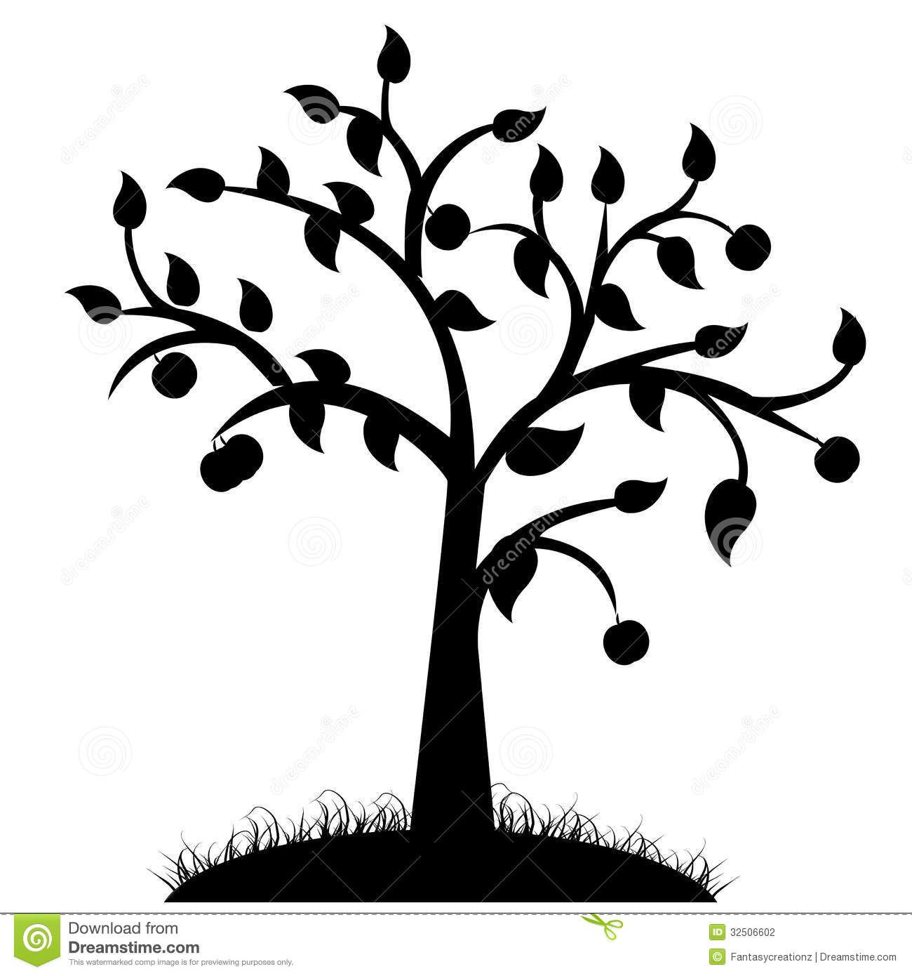 1300x1390 Simple Black And White Tree Drawings