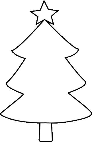 323x500 Christmas Tree Silhouette Clip Art