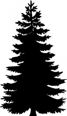 236x406 Christmas Tree Silhouette Clipart Black And White Collection